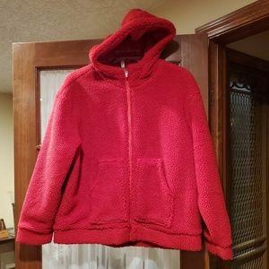 Hooded fleece jacket-New po
